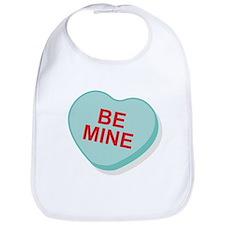 Be Mine Candy Heart Bib