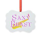 Alto sax Picture Frame Ornaments