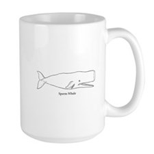 Sperm Whale (line art) Mugs