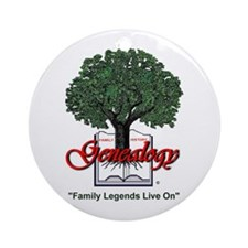 Family Legends Live On Ornament (Round)