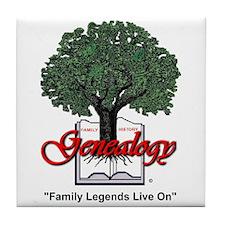 Family Legends Live On Tile Coaster