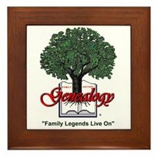 Family Legends Live On Framed Tile