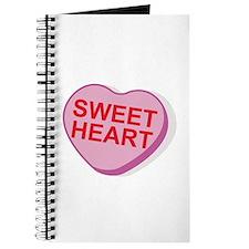 Sweet Heart Candy Heart Journal