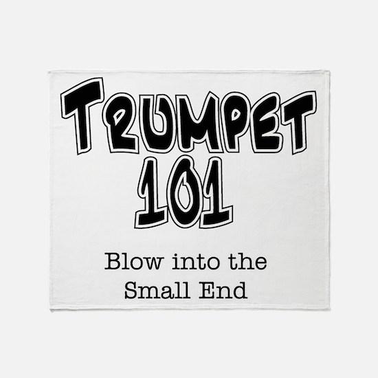 Trumpet 101 Throw Blanket