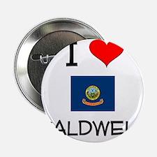 """I Love CALDWELL Idaho 2.25"""" Button"""
