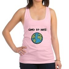 GMO to Hell Racerback Tank Top