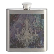 abstract watercolor chandelier  Flask