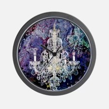 abstract watercolor chandelier  Wall Clock