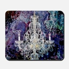 abstract watercolor chandelier  Mousepad