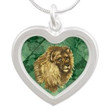 Lion King Silver Heart Necklace