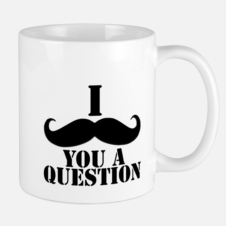 I Mustache You A Question | Black Mustache Mug