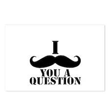I Mustache You A Question | Black Mustache Postcar