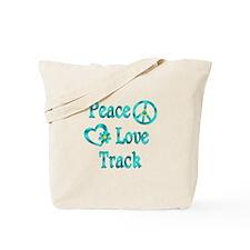 Peace Love Track Tote Bag