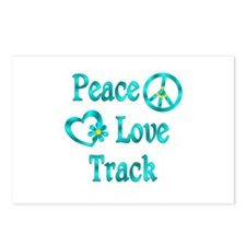 Peace Love Track Postcards (Package of 8)