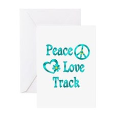Peace Love Track Greeting Card