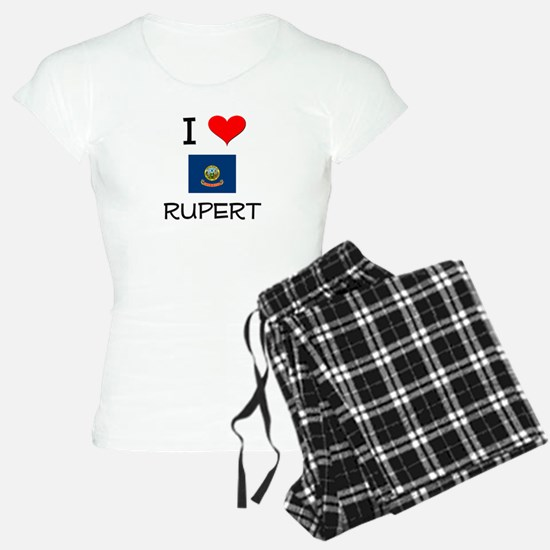 I Love RUPERT Idaho Pajamas