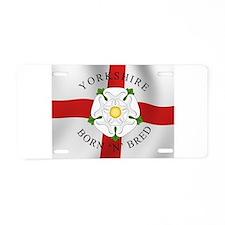 Yorkshire Born 'N' Bred Aluminum License Plate
