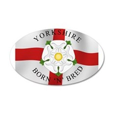 Yorkshire Born 'N' Bred Wall Decal