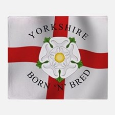 Yorkshire Born 'N' Bred Throw Blanket