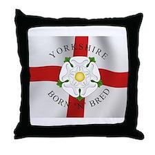 Yorkshire Born 'N' Bred Throw Pillow
