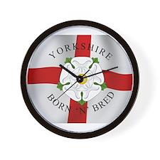 Yorkshire Born 'N' Bred Wall Clock