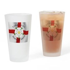 Yorkshire Born 'N' Bred Drinking Glass