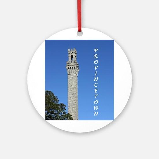 Pilgrim Monument Ornament (Round)