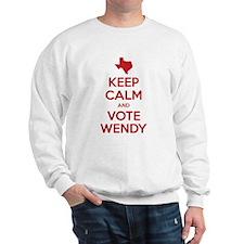 Keep Calm Vote Wendy Davis Sweatshirt