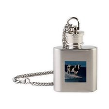 Cow surfing Flask Necklace