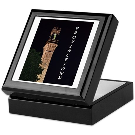 Pilgrim Monument at Night Keepsake Box