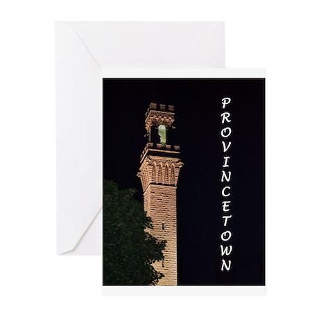 Pilgrim Monument at Night Greeting Cards (Pk of 10