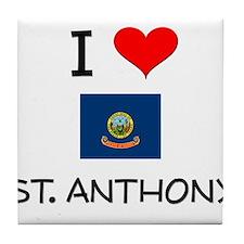 I Love ST. ANTHONY Idaho Tile Coaster