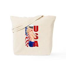 Unique Patriotic pins Tote Bag