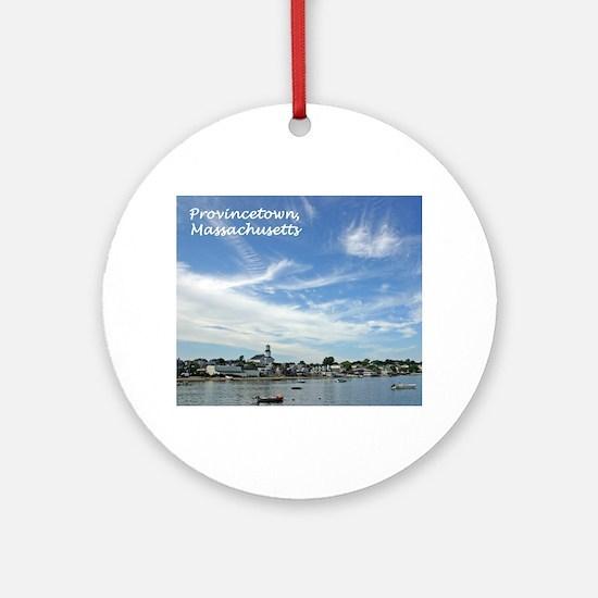 Provincetown Harbor Ornament (Round)
