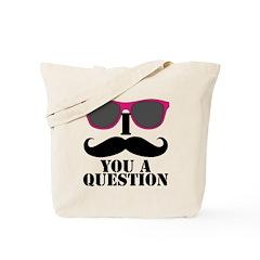 Black Mustache and Sunglasses Tote Bag