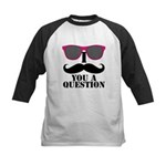 I Mustache You A Question Pink Sunglasses Baseball
