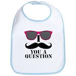 I Mustache You A Question Pink Sunglasses Bib