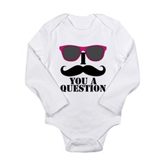 I Mustache You A Question Pink Sunglasses Body Sui