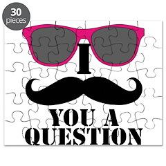 I Mustache You A Question Pink Sunglasses Puzzle