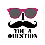 I Mustache You A Question Pink Sunglasses Small Po