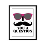 I Mustache You A Question Pink Sunglasses Framed P