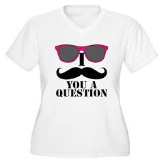 I Mustache You A Question Pink Sunglasses Plus Siz