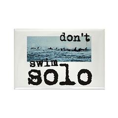 Don't Swim Solo Rectangle Magnet