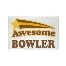 Awesome Bowler Rectangle Magnet