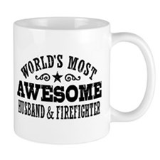 World's Most Awesome Husband & Firefighter Mug