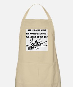Loved By My Cat BBQ Apron