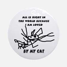 Loved By My Cat Ornament (Round)