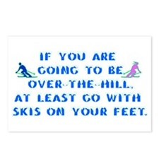 Over the Hill on Skis Postcards (Package of 8)