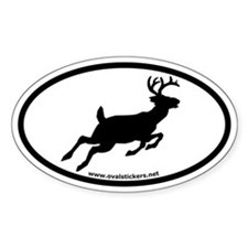 Whitetail Deer Oval Car Decal