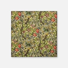 "Morris Golden Lily Square Sticker 3"" x 3"""